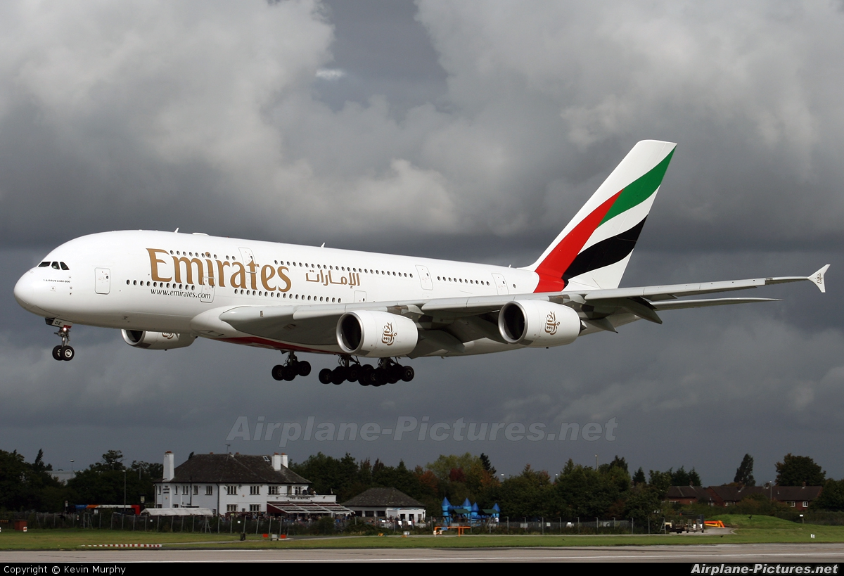 Emirates Airlines A6-EDE aircraft at Manchester