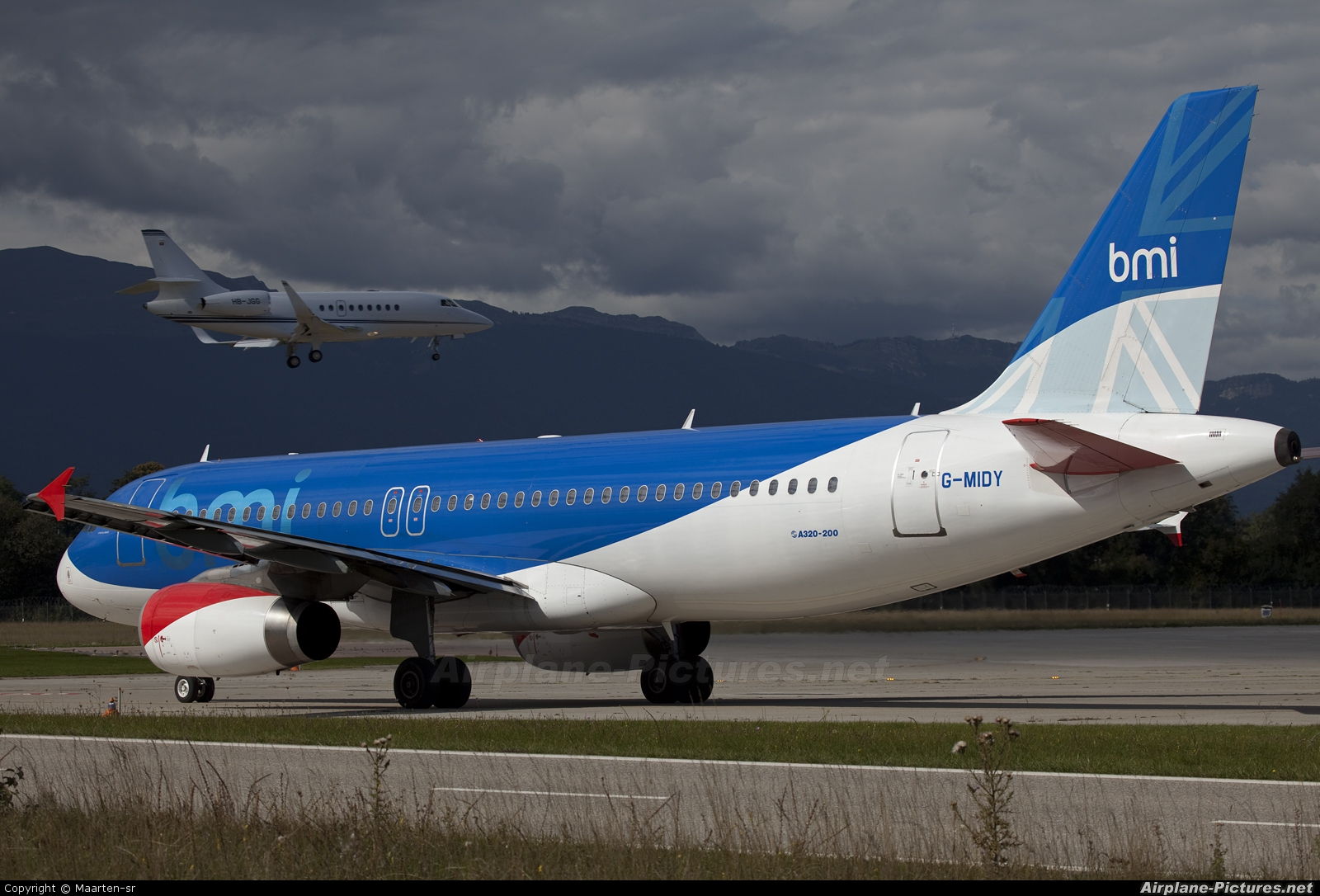BMI British Midland G-MIDY aircraft at Geneva Intl