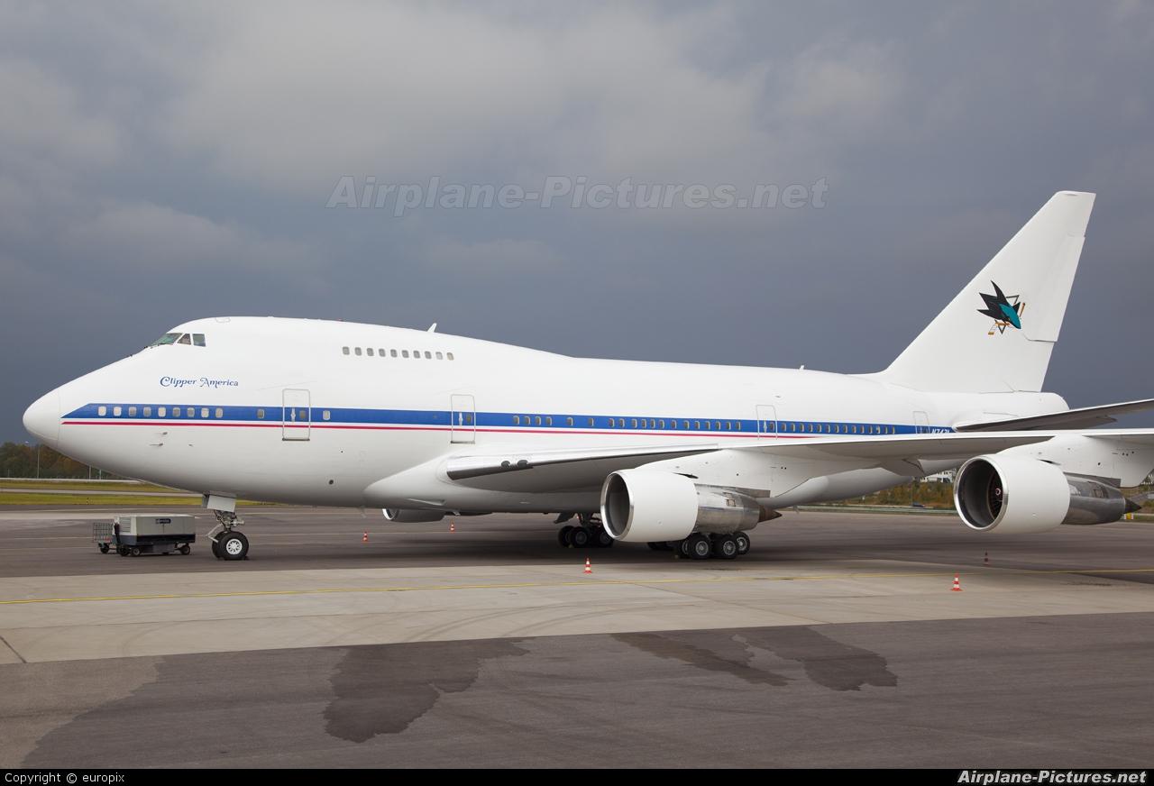 N747A - Private Boeing 747SP at Stockholm - Arlanda ...