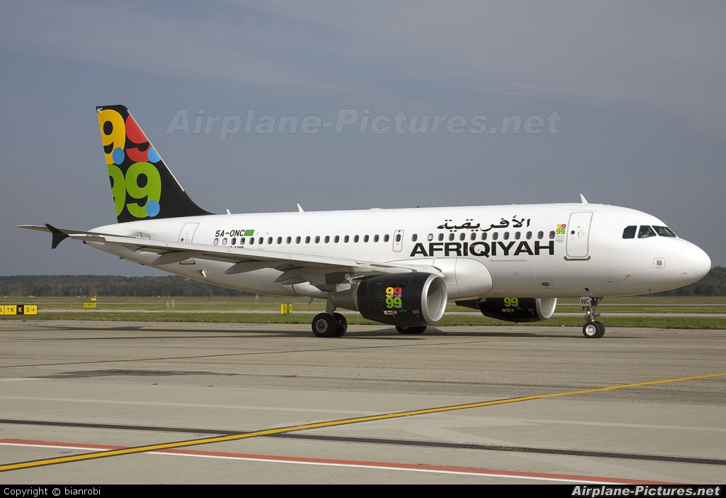 Afriqiyah Airways 5A-ONC aircraft at Milan - Malpensa