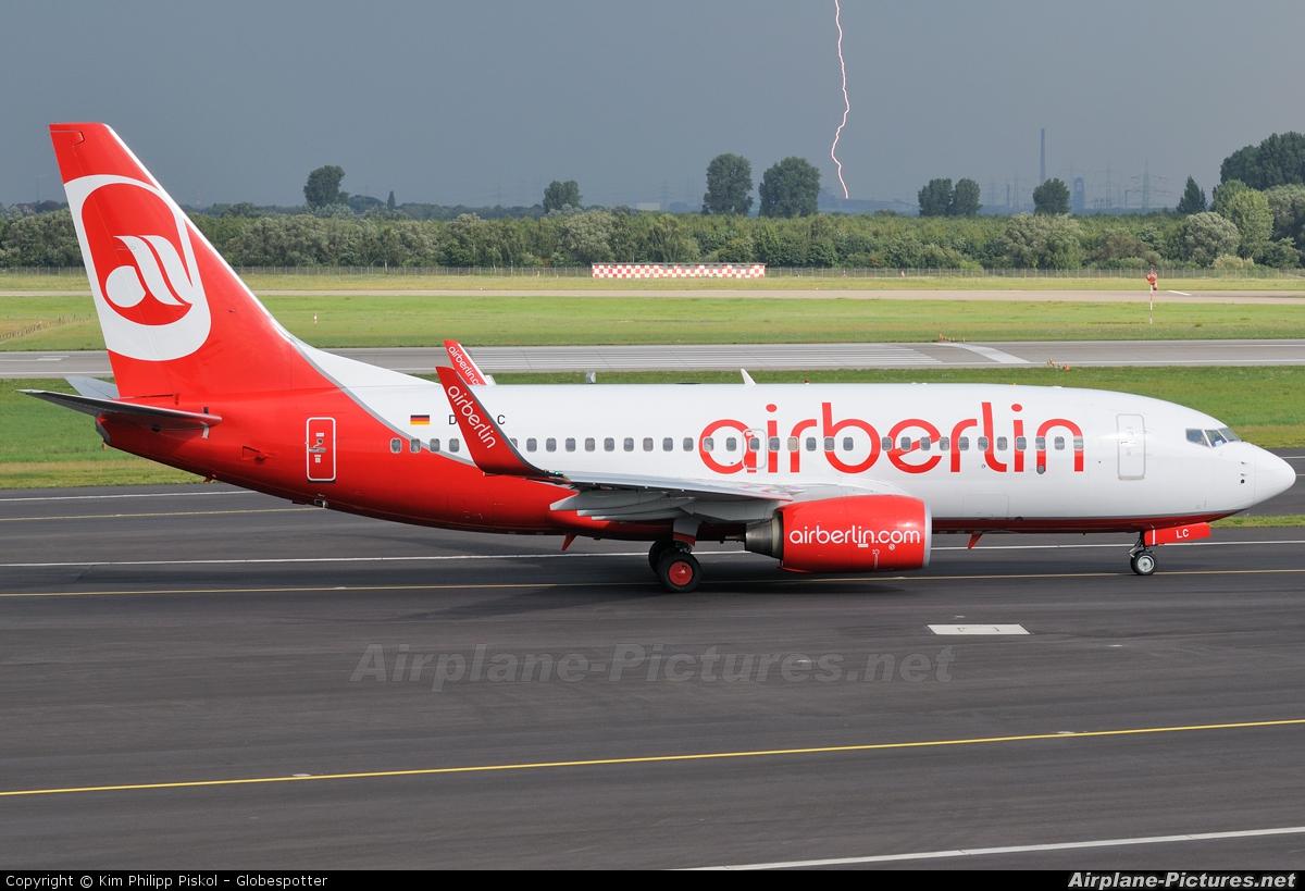 Air Berlin D-ABLC aircraft at Düsseldorf