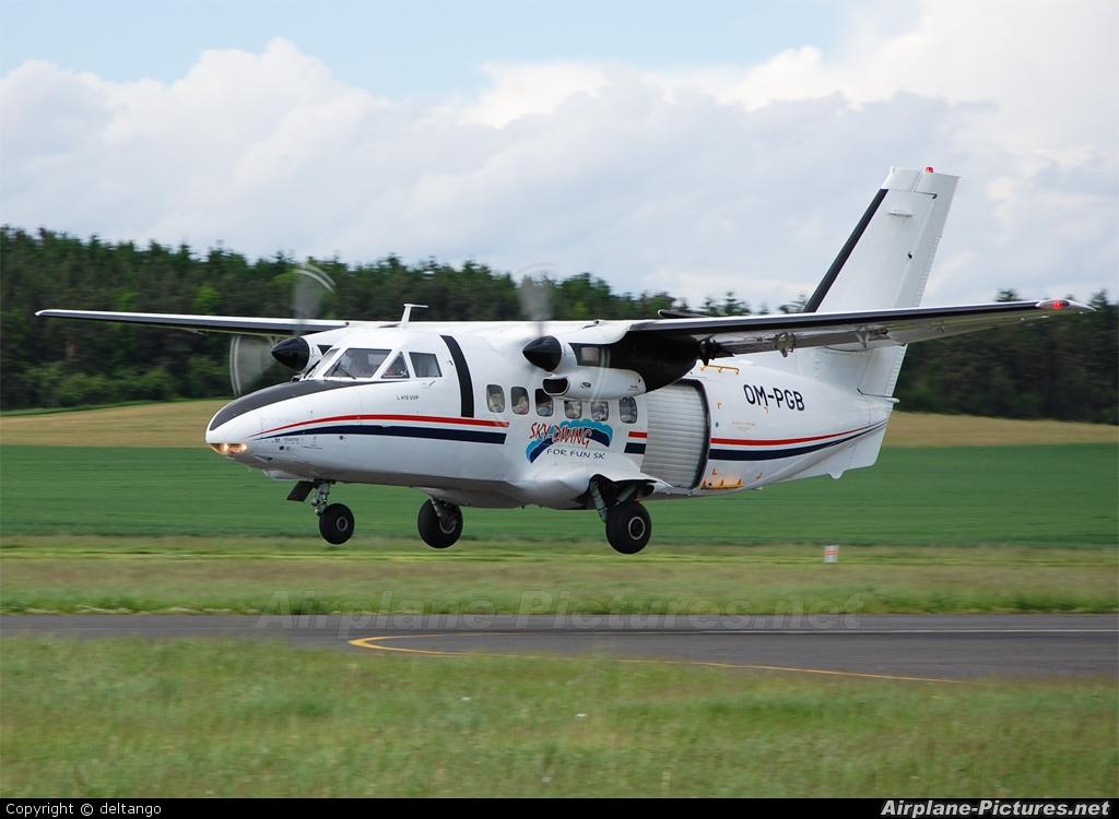Sky-Diving For Fun OM-PGB aircraft at Příbram
