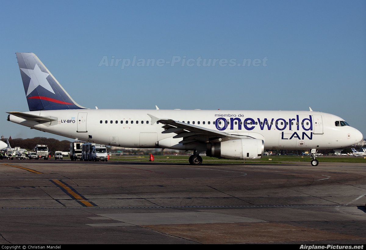 LAN Argentina LV-BFO aircraft at Buenos Aires - Jorge Newbery
