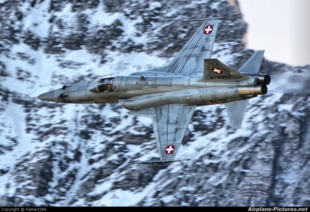 Switzerland - Air Force J-3057 aircraft at Axalp - Ebenfluh Range