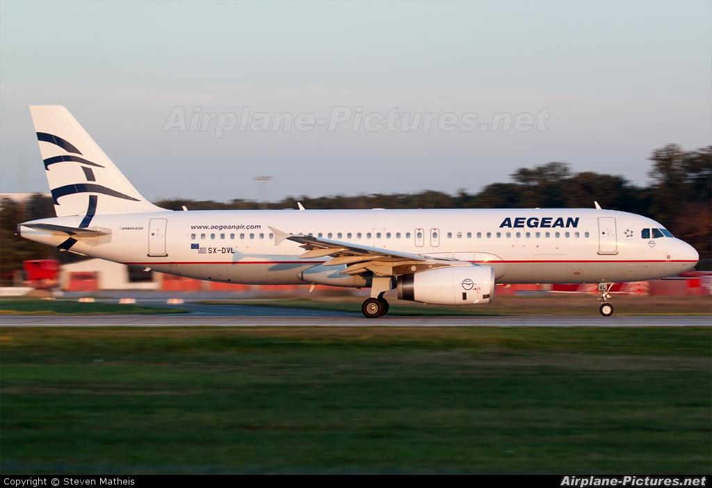 Aegean Airlines SX-DVL aircraft at Frankfurt