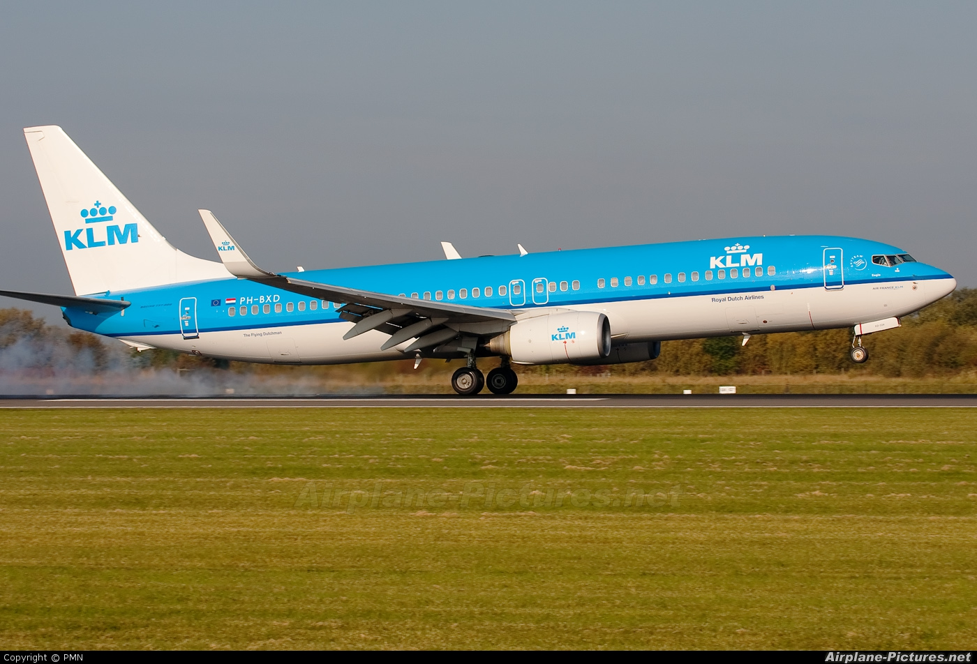 KLM PH-BXD aircraft at Manchester