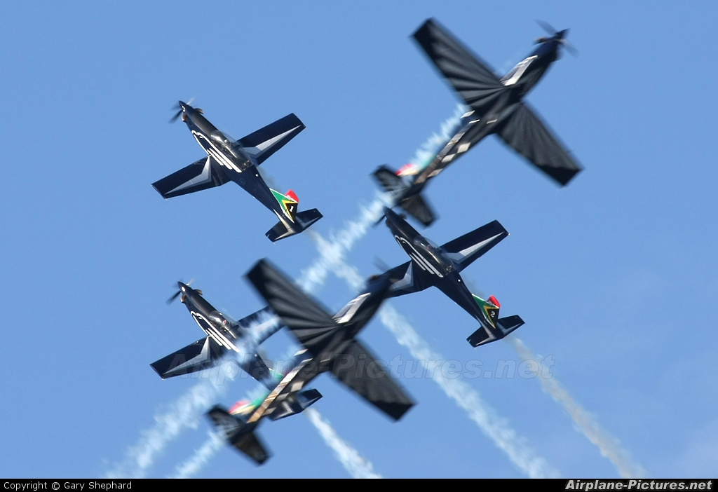 South Africa - Air Force: Silver Falcons 2025 aircraft at Ysterplaat - Cape Town