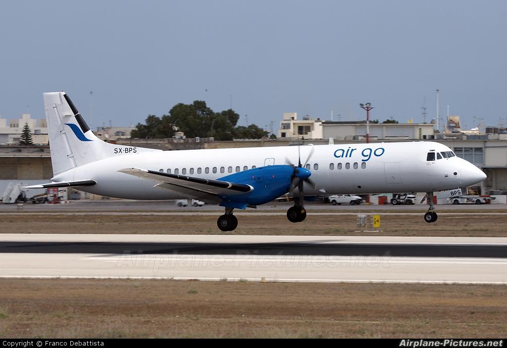 Air Go SX-BPS aircraft at Malta Intl
