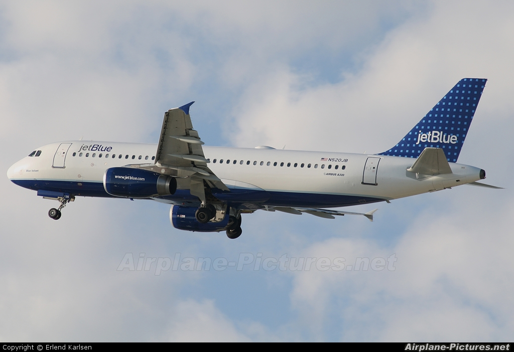 JetBlue Airways N520JB aircraft at Fort Lauderdale - Hollywood Intl