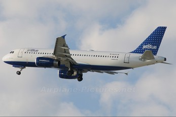N520JB - JetBlue Airways Airbus A320