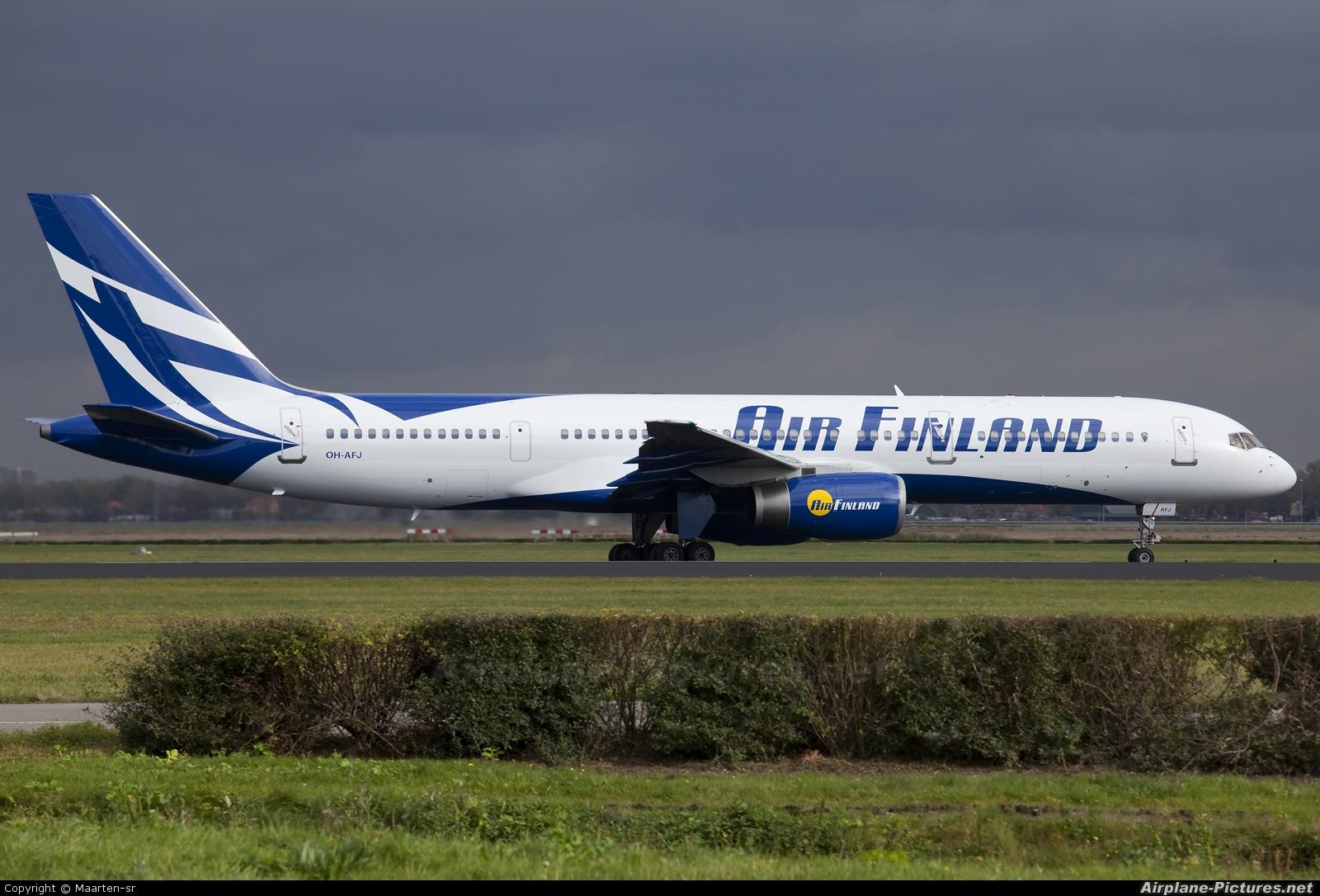 Air Finland OH-AFJ aircraft at Amsterdam - Schiphol