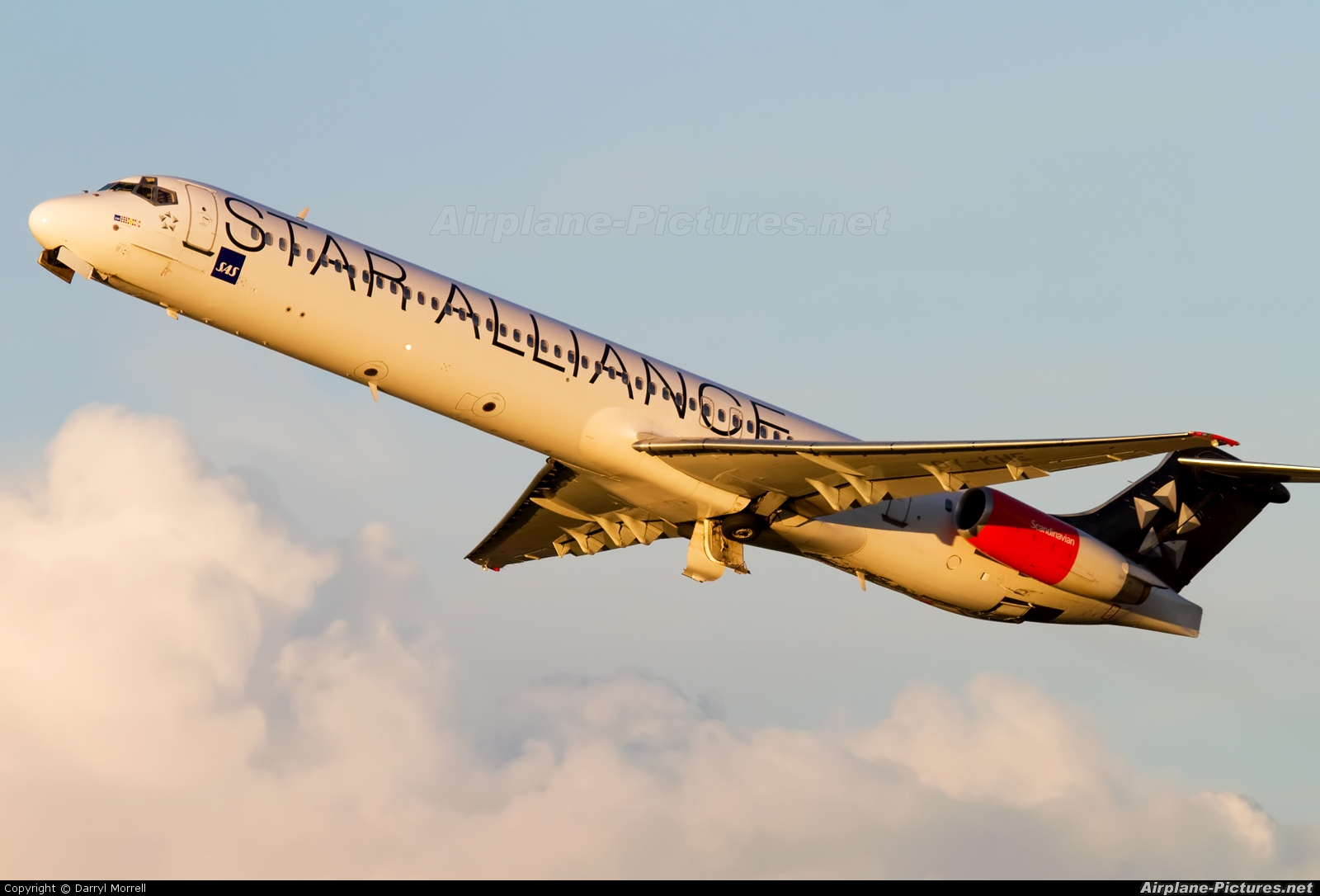 SAS - Scandinavian Airlines OY-KHE aircraft at London - Heathrow