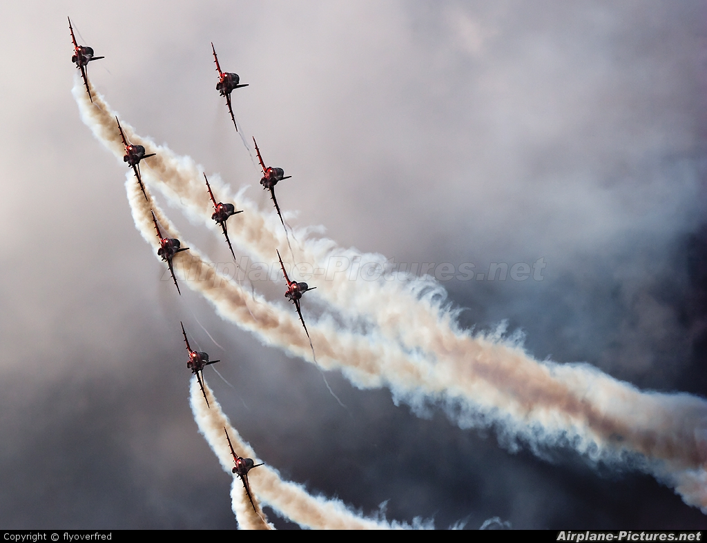 "Royal Air Force ""Red Arrows"" XX294 aircraft at Fairford"