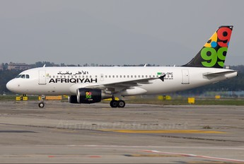5A-ONC - Afriqiyah Airways Airbus A319