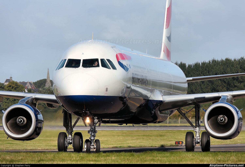 British Airways G-EUXL aircraft at Edinburgh