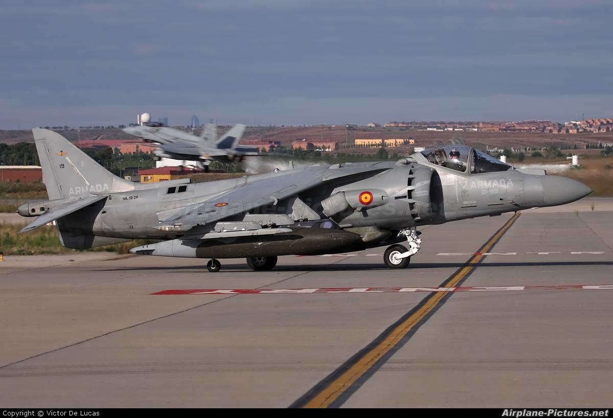 Spain - Navy VA.1B-29 aircraft at Madrid - Torrejon