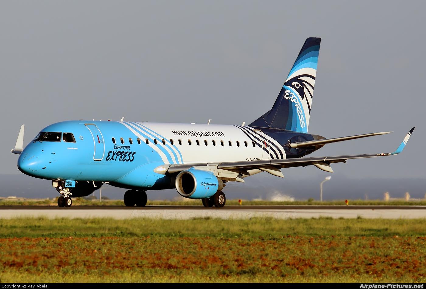 Egyptair Express SU-GDK aircraft at Malta Intl