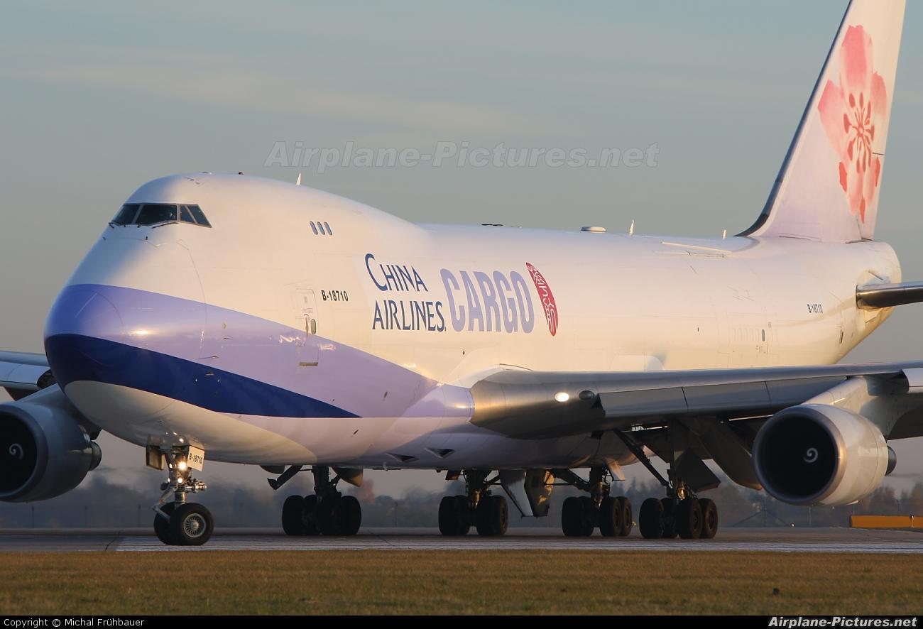 China Airlines Cargo B-18710 aircraft at Prague - Václav Havel