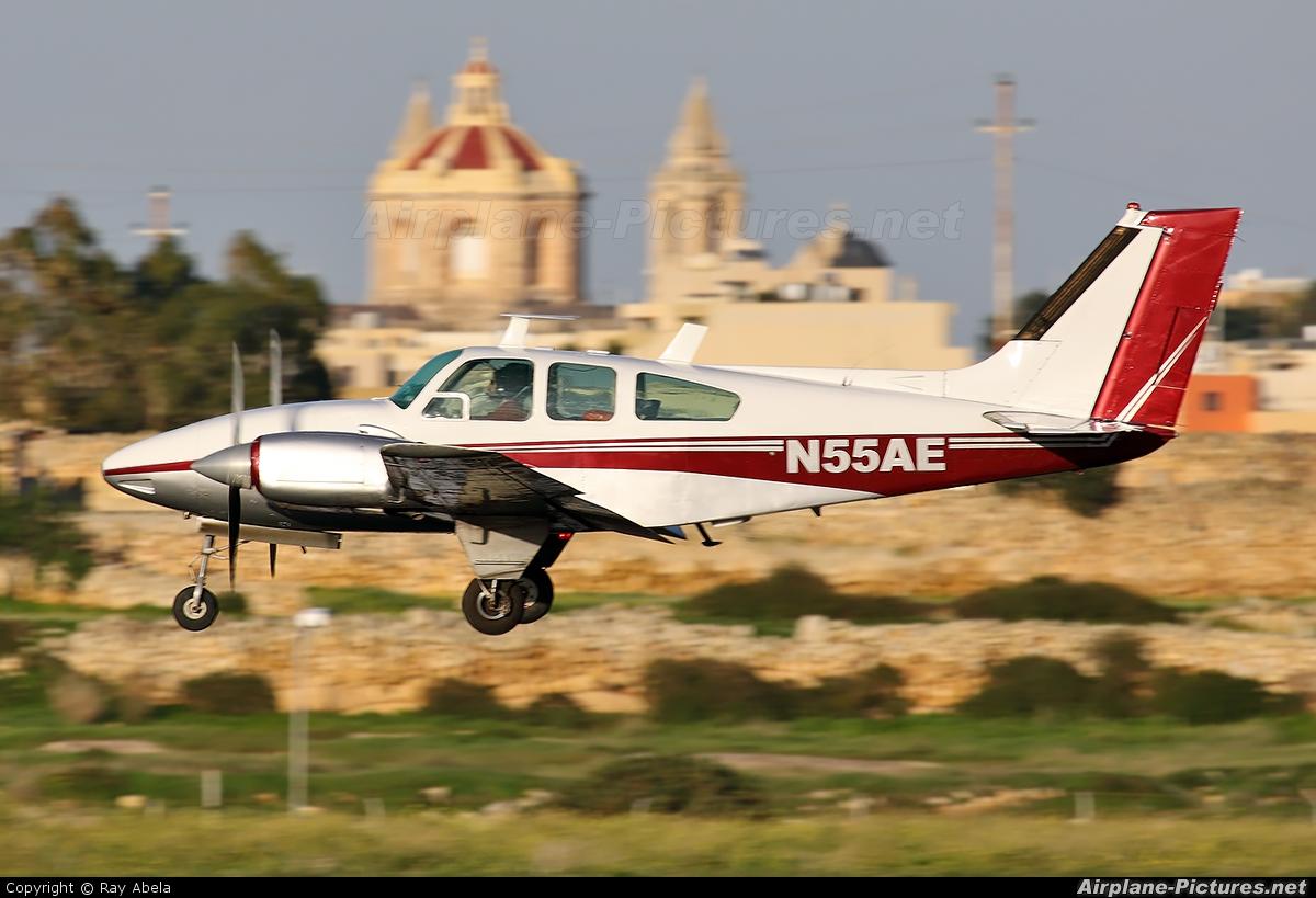 Private N55AE aircraft at Malta Intl