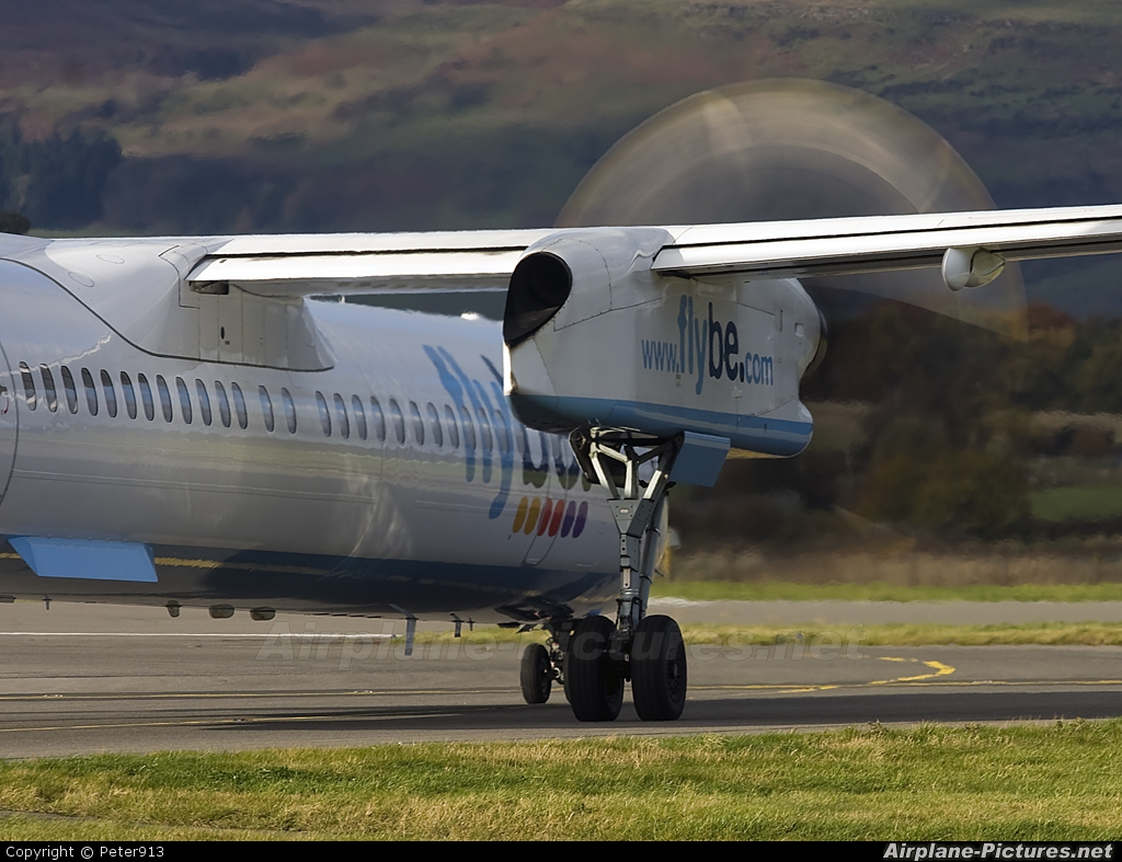 Flybe G-JECN aircraft at Glasgow