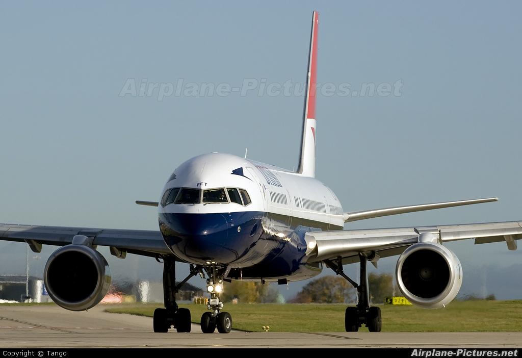 British Airways G-CPET aircraft at Manchester
