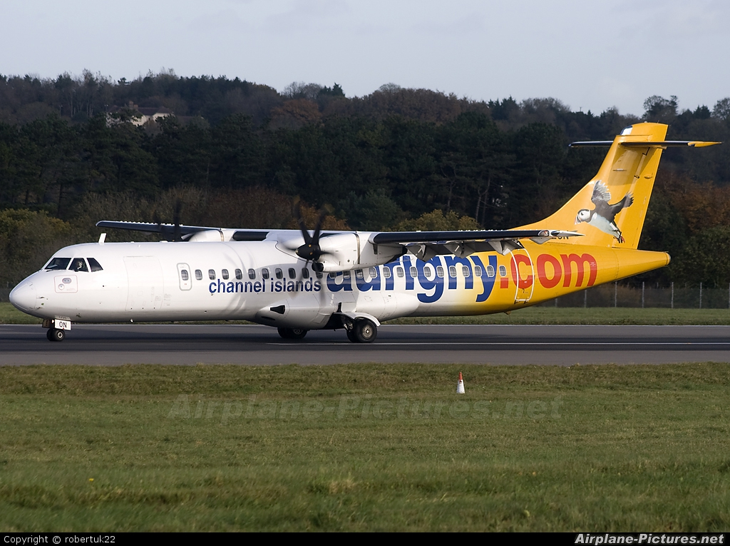 Aurigny Air Services G-VZON aircraft at Bristol - Lulsgate