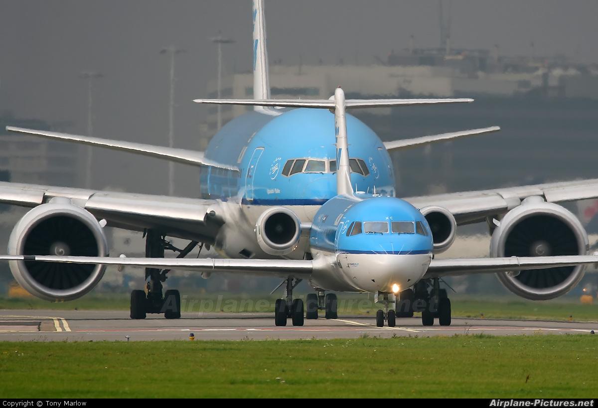 KLM Cityhopper PH-WXC aircraft at Amsterdam - Schiphol