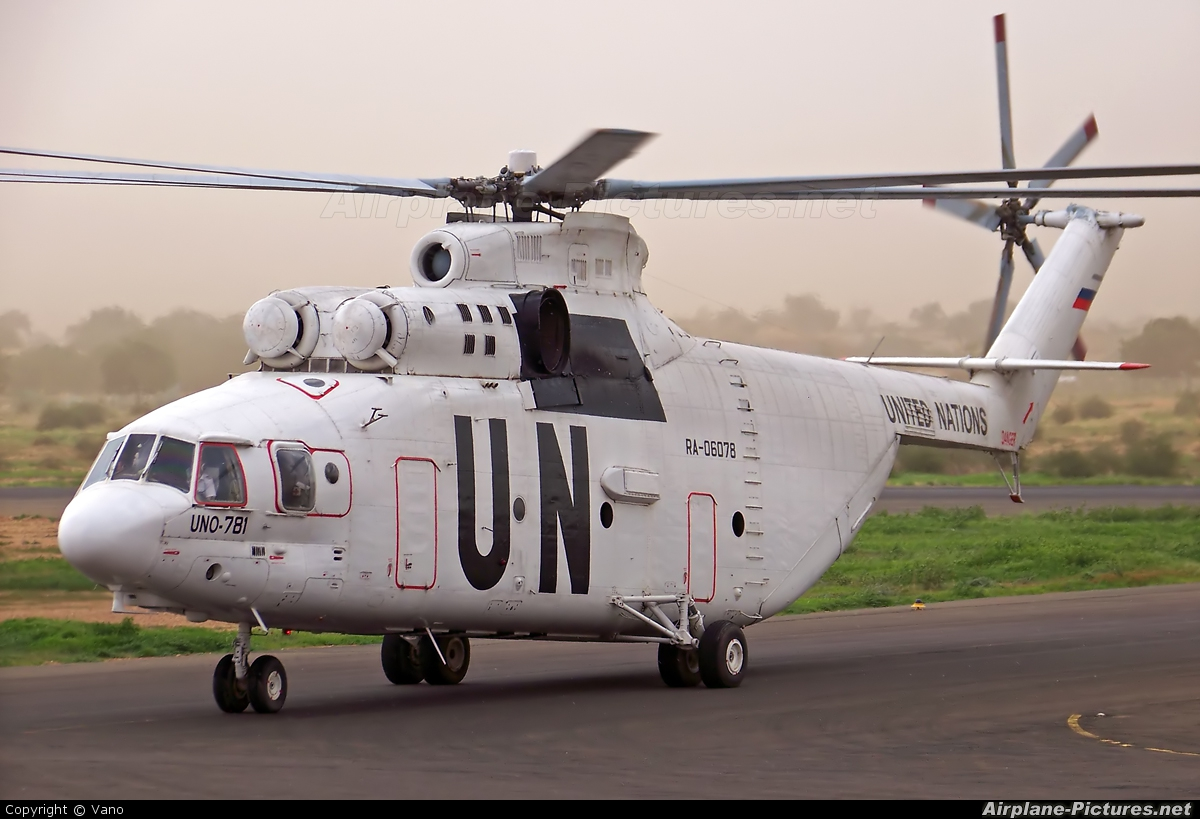 United Nations RA-06078 aircraft at El Fashir