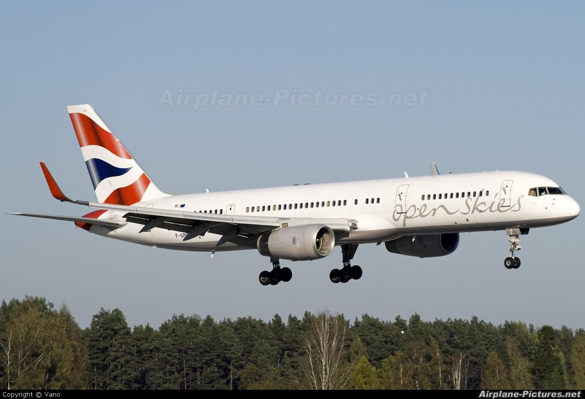 British Airways - Open Skies F-GPEJ aircraft at Riga Intl