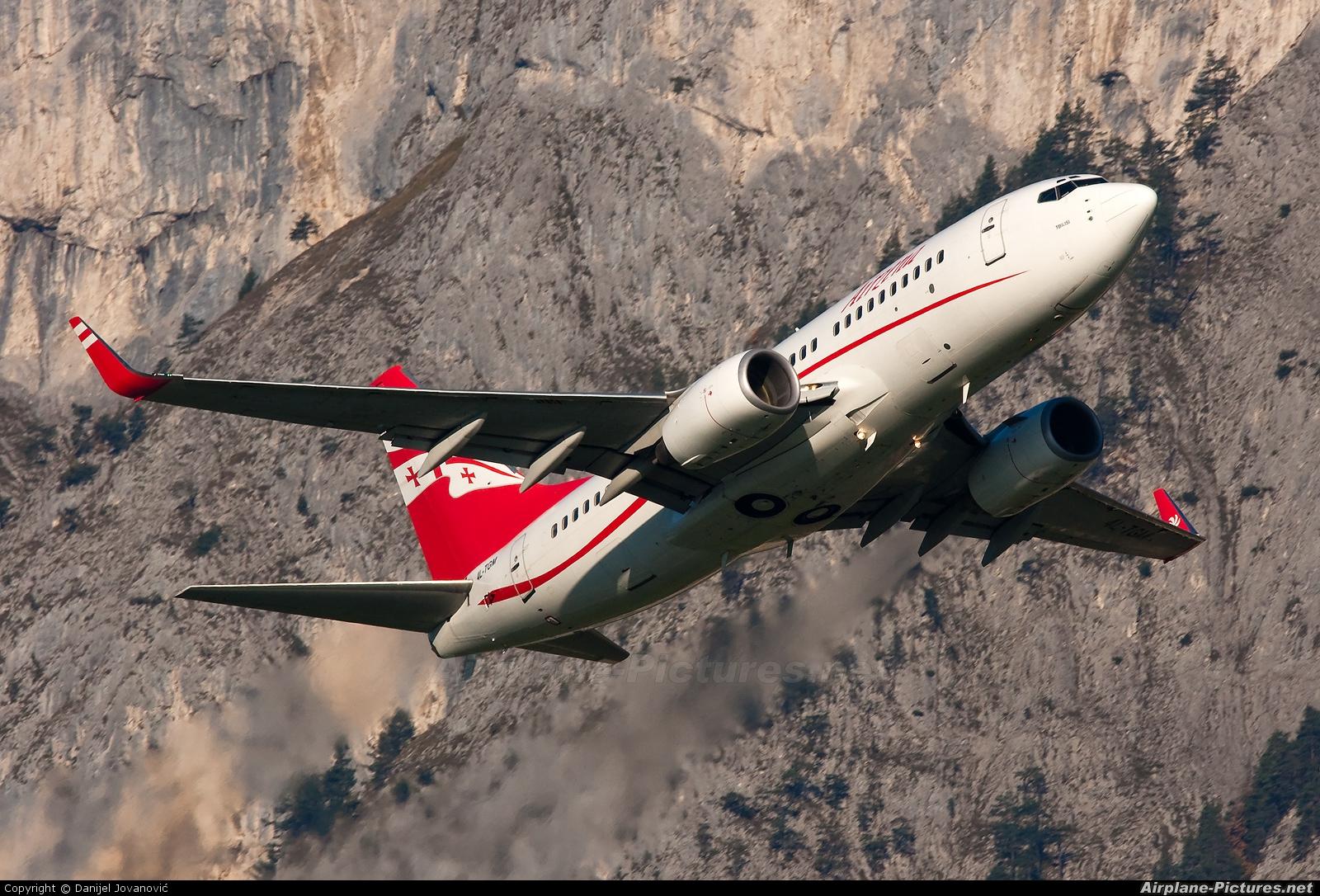 Airzena - Georgian Airlines 4L-TGM aircraft at Innsbruck
