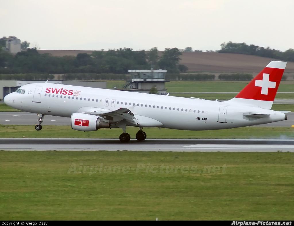 Swiss HB-IJF aircraft at Vienna - Schwechat