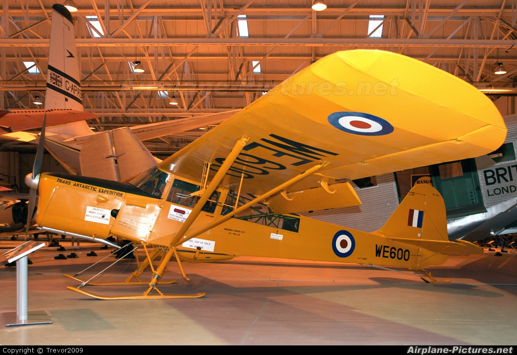 Royal Air Force WE600 aircraft at Cosford