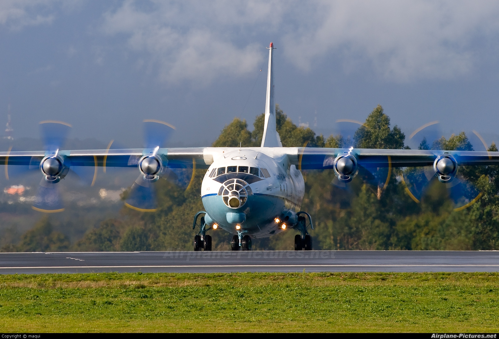 AeroVis Airlines UR-CCP aircraft at Santiago de Compostela