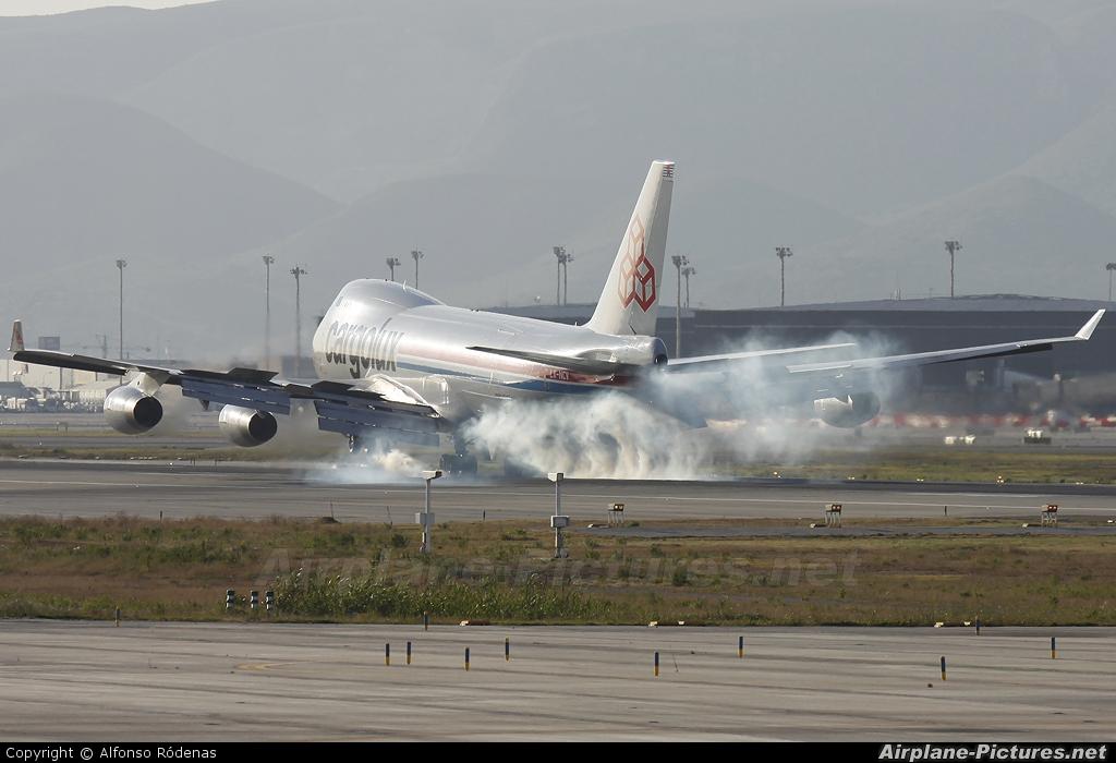Cargolux LX-NCV aircraft at Barcelona - El Prat