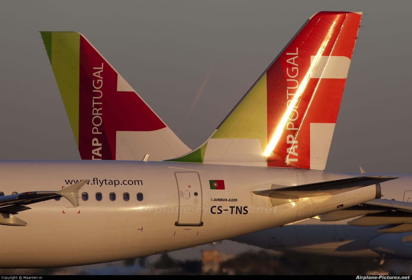 TAP Portugal CS-TNS aircraft at Lisbon