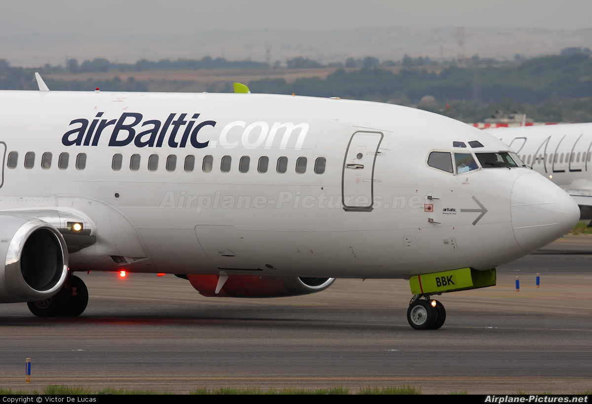 Air Baltic YL-BBK aircraft at Madrid - Barajas