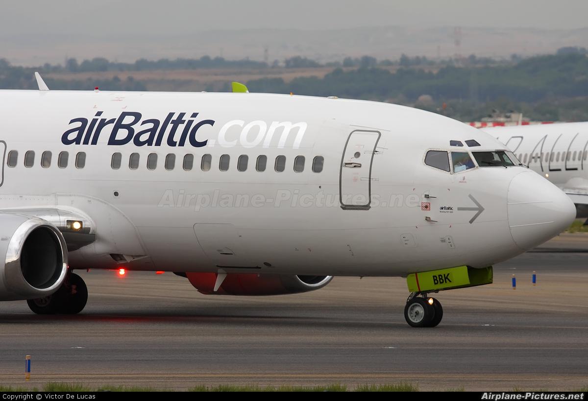 Air Baltic YL-BBK aircraft at Madrid - Barajas
