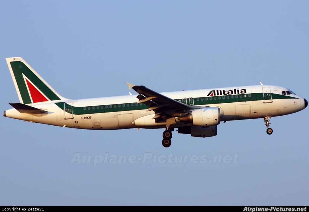 Alitalia I-BIKO aircraft at Rome - Fiumicino
