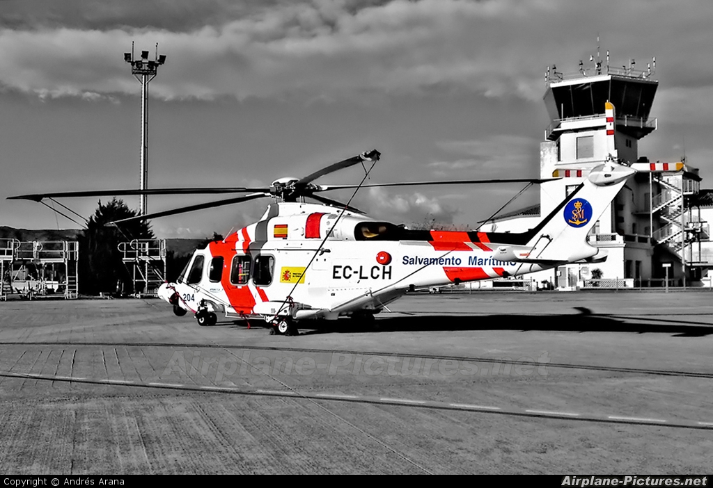 Spain - Coast Guard EC-LCH aircraft at Reus