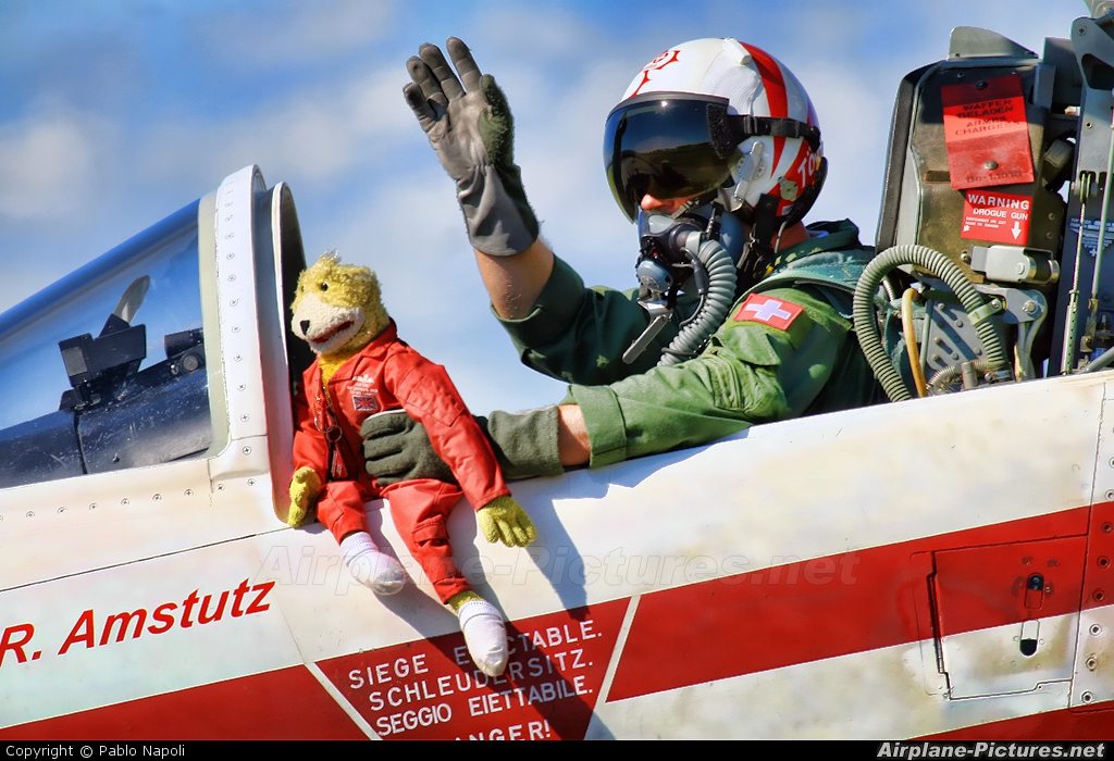 Switzerland - Air Force:  Patrouille de Suisse J-3081 aircraft at Rivolto