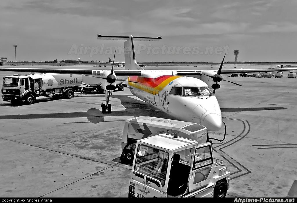 Air Nostrum - Iberia Regional EC-IIB aircraft at Barcelona - El Prat