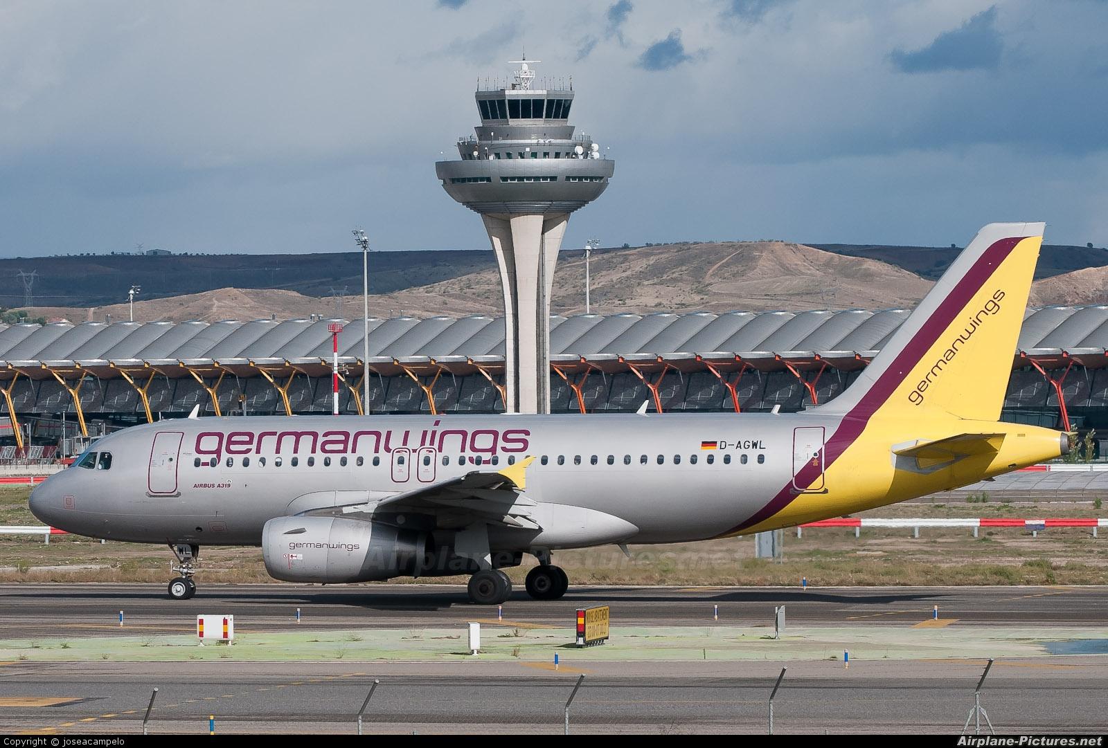 Germanwings D-AGWL aircraft at Madrid - Barajas