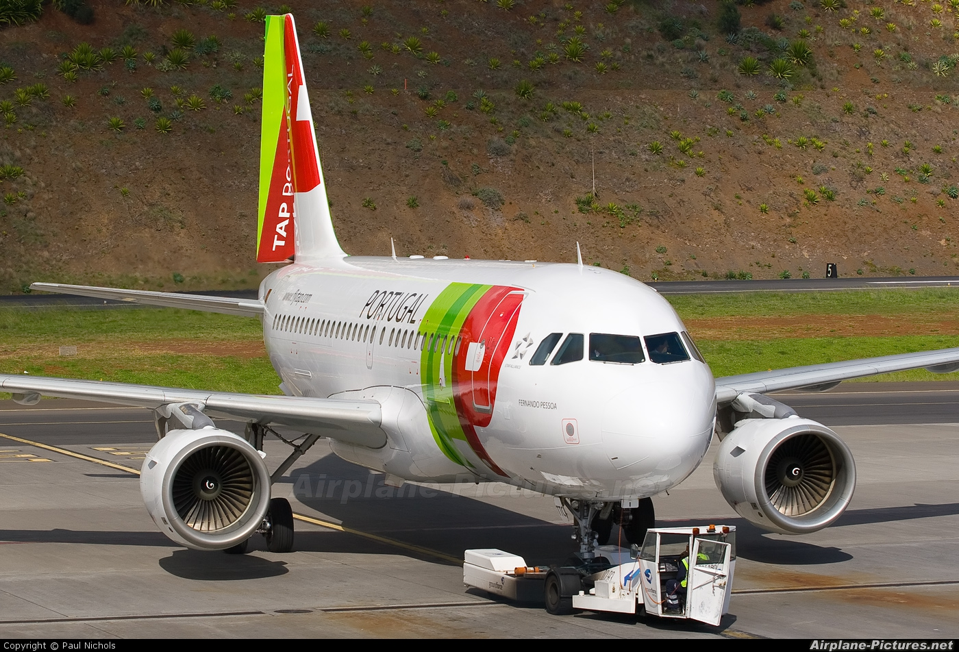 TAP Portugal CS-TTC aircraft at Madeira