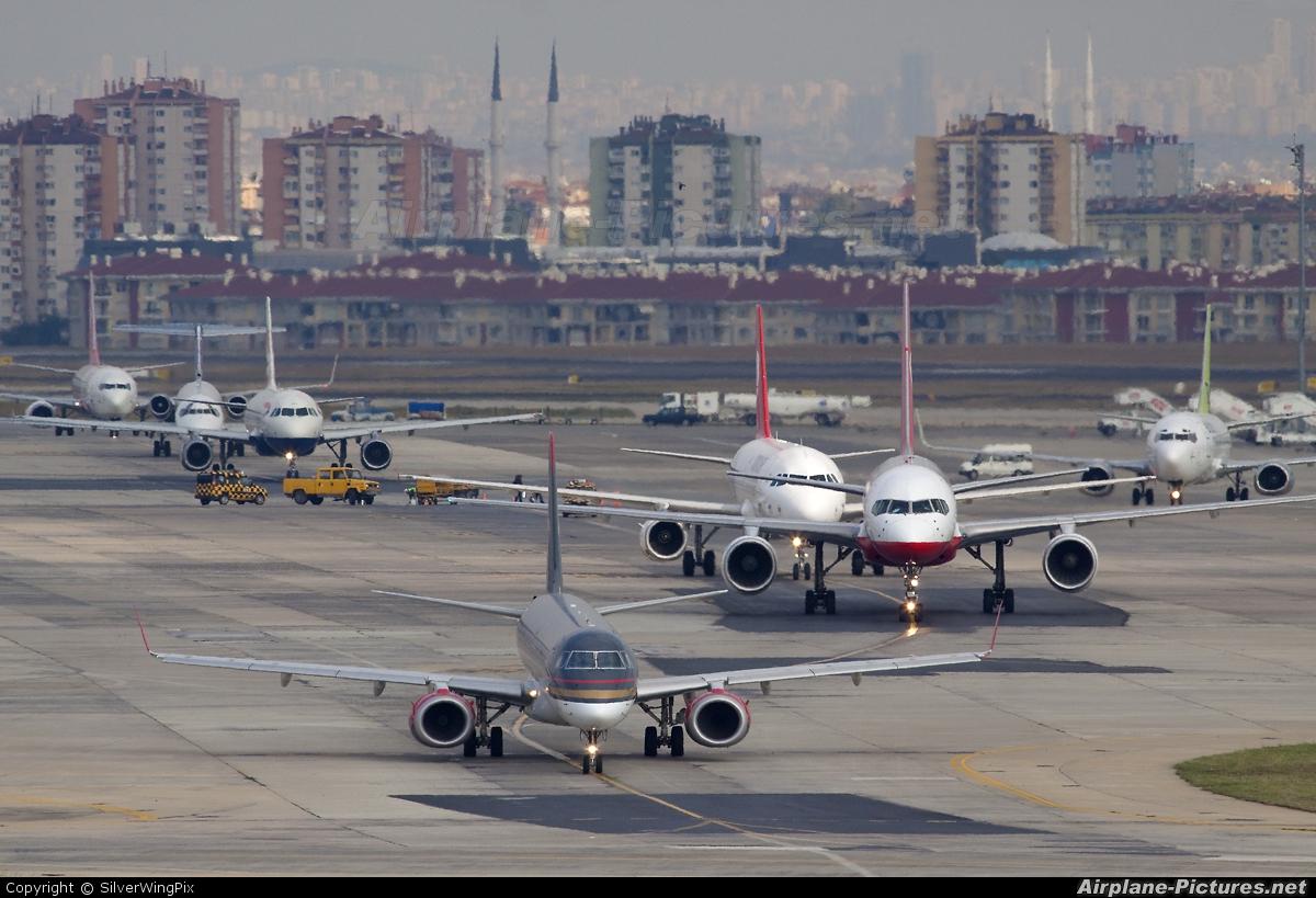 Royal Jordanian JY-EMB aircraft at Istanbul - Ataturk