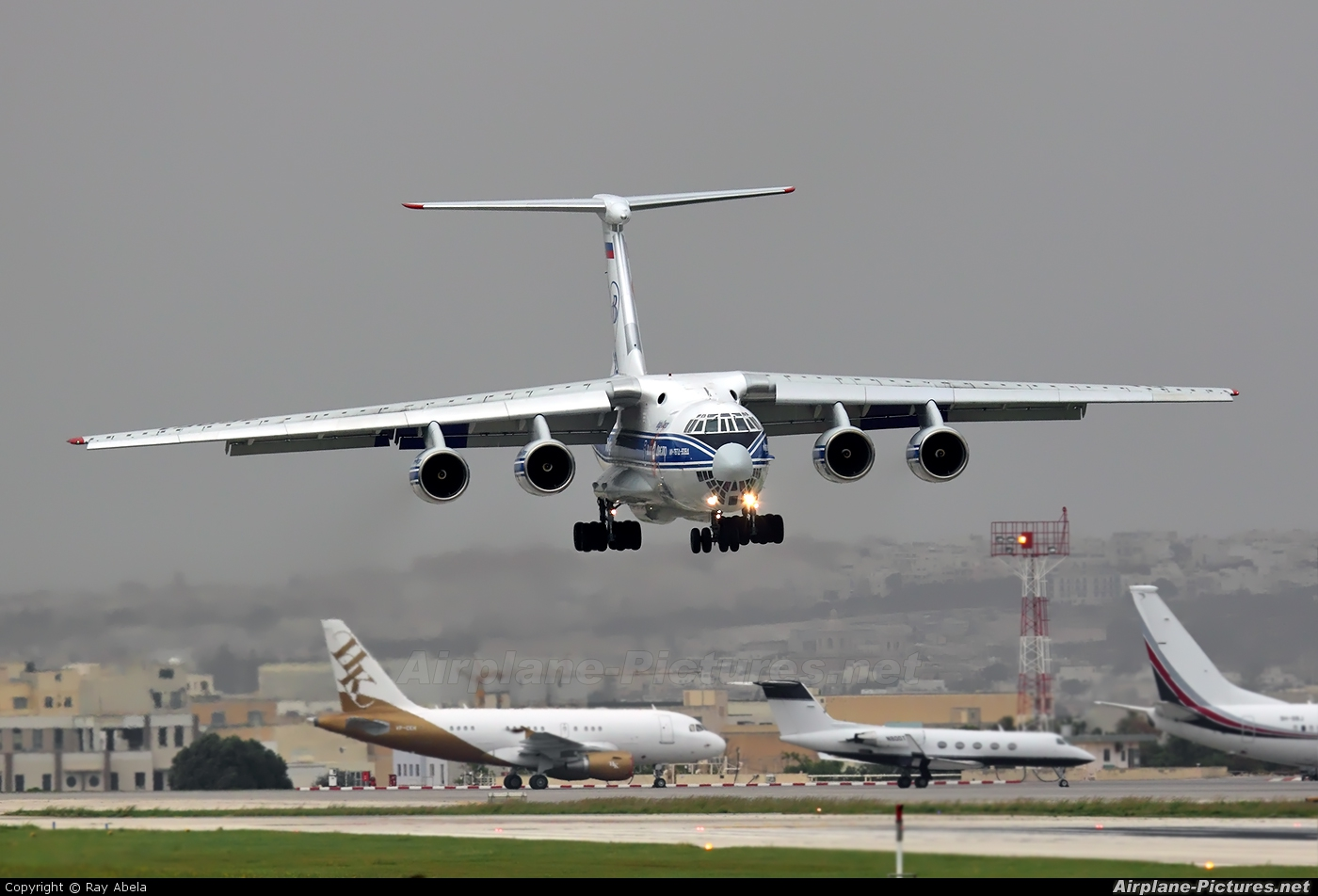 Volga Dnepr Airlines RA-76951 aircraft at Malta Intl