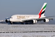 A6-EDM - Emirates Airlines Airbus A380 aircraft