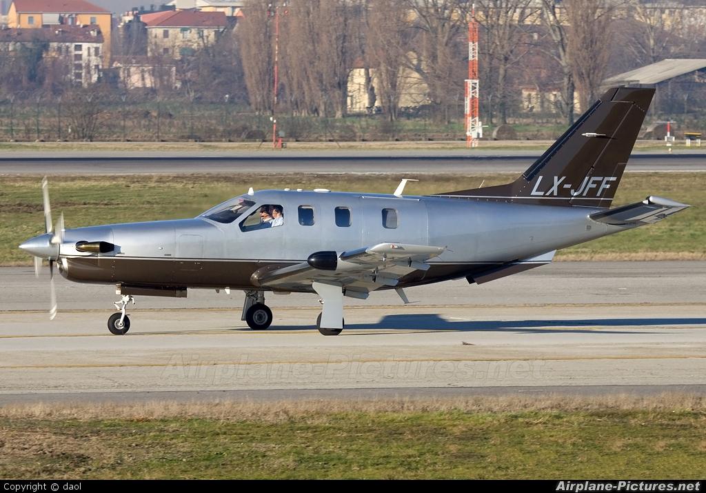 Jetfly Aviation LX-JFF aircraft at Milan - Linate