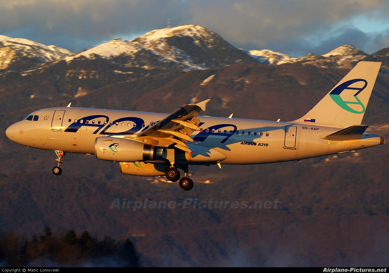 Adria Airways S5-AAP aircraft at Ljubljana - Brnik
