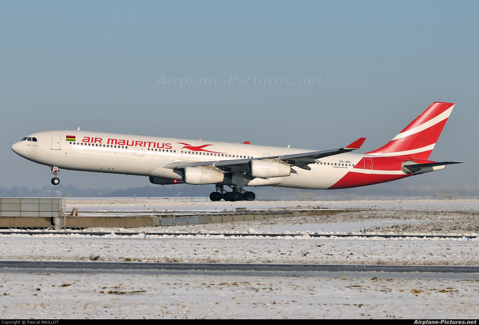 Air Mauritius 3B-NBE aircraft at Paris - Charles de Gaulle