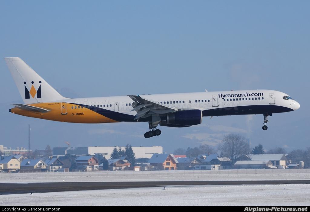 Monarch Airlines G-MONK aircraft at Salzburg